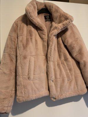 Giacca di pelliccia rosa antico