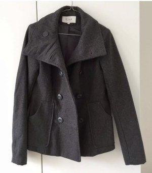 Jacke / Filzjacke / Übergangsjacke mit Wolle, grau meliert, Größe XS