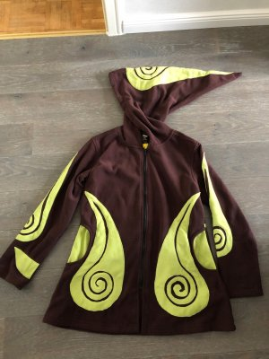 unbranded Fleece Jackets dark brown-meadow green polyester