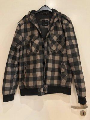 Jacke gefüttert, braun schwarz kariert, Gr. L, collezione Street Wear