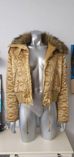 Bomber Jacket gold-colored mixture fibre
