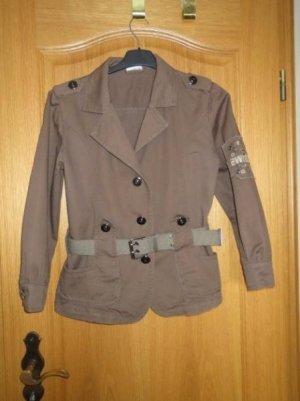 Jacke, Gr.36/38, sportlich, braun-khaki