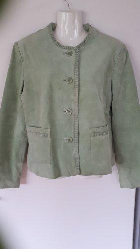 Joy Leather Jacket lime-green