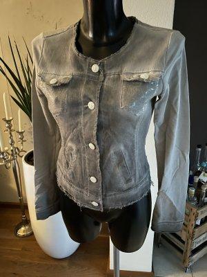 aus Italien Short Jacket grey-silver-colored