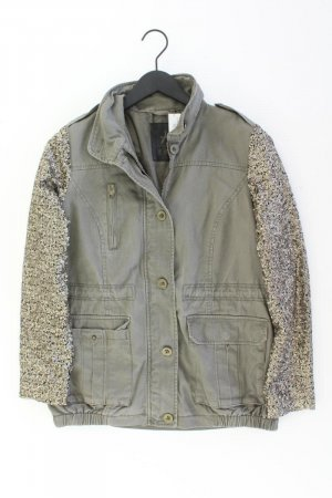 Jacke Größe 38 mit Pailletten olivgrün aus Baumwolle