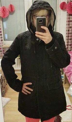 Jacke, Größe 42, Damenjacke, Parka schwarz L.O.G.G. H&M