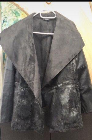 Heidi Klum Chaqueta de piel sintética negro