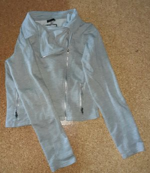 Page one Wraparound Jacket silver-colored-light grey