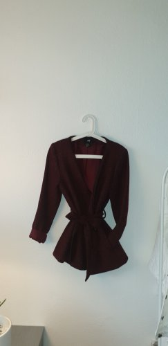 H&M Wraparound Jacket bordeaux