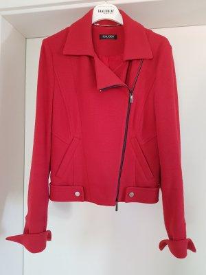 Jacke im Biker-Stil in rot Gr.38 von Hauber
