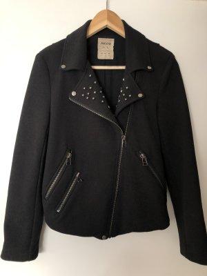 Jacke im Bikerstil mit Nieten Größe S schwarz
