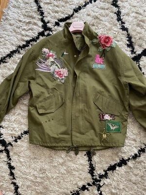 Marynarska kurtka khaki-różowy