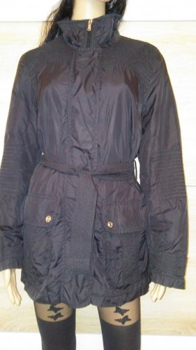 Betty Barclay Krótki płaszcz czarny Tkanina z mieszanych włókien