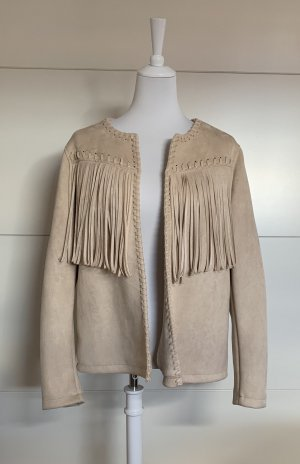 Yessica Fringed Vest beige