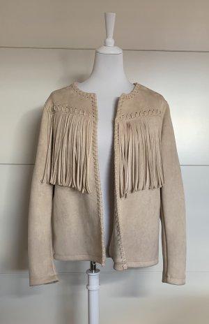 Yessica Fringed Vest beige