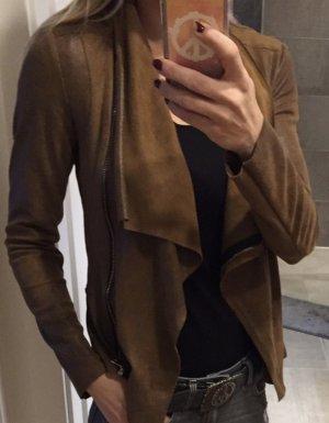 Jacke in Lederoptik in Cognac Farben Gr.XS von Zara