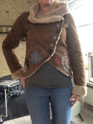 Desigual Short Jacket brown