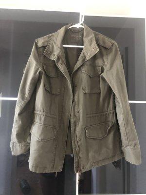 Jacke in Olive Grün