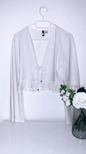 Jacke jäckchen weiß volants schößchen top oberteil shirt tshirt