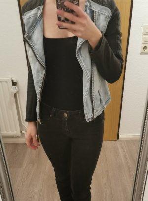 Jacke Jeans Leder