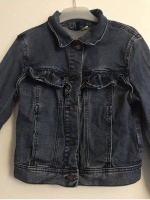 Jacke Jeans Volant Rüsche Gr 36