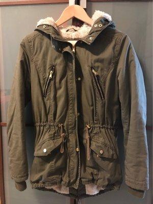 Tally Weijl Fur Jacket green grey