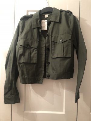 H&M Kurtka przejściowa khaki-zielono-szary