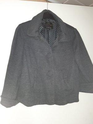 Blouson universitaire gris foncé-gris coton