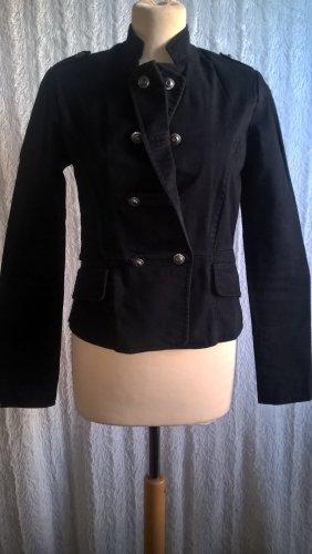 YES OR NO Veste courte noir-argenté coton