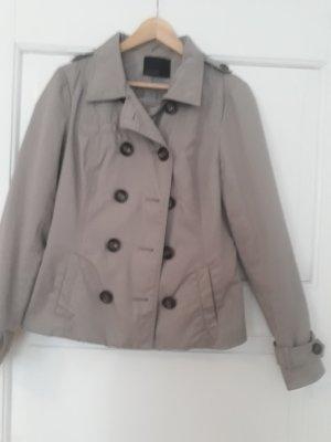 Vero Moda Krótki płaszcz szaro-brązowy