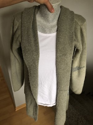 Made in Italy Knitted Cardigan khaki-green grey