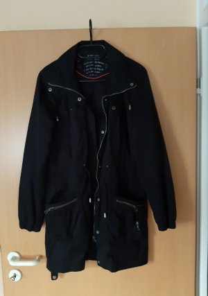 Jacke lang schwarz Grösse 38/40