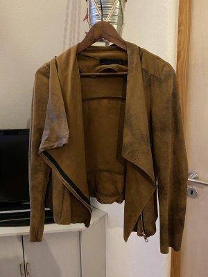 Zara Leather Blazer brown