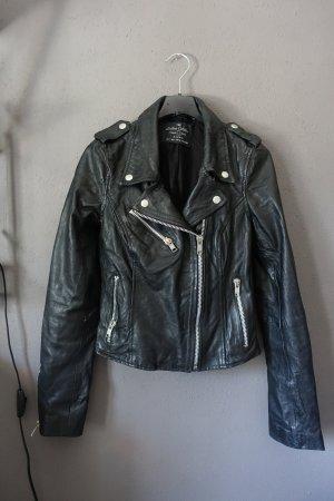 Jacke, Lederjacke, Bikerjacke, Zara, schwarz, Leder, Biker