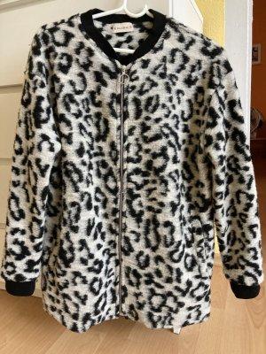 Pull & Bear Blouson universitaire noir-blanc tissu mixte
