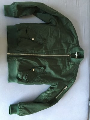 Light Before Dark Bomber Jacket dark green
