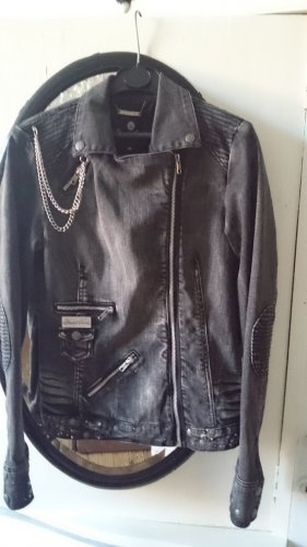 Blessed & Cursed Denim Jacket anthracite