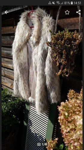 Hallhuber Chaqueta de piel sintética gris-beige claro