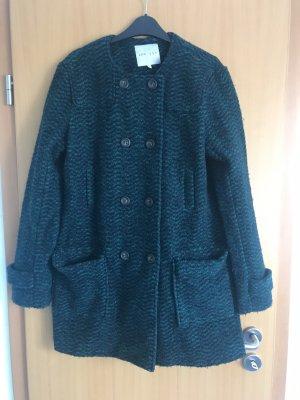 kew 159 Wełniany sweter czarny-ciemnozielony