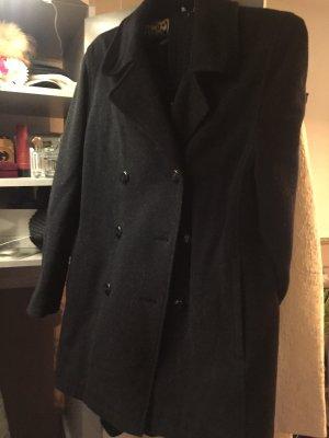 Barisal Manteau en laine noir-argenté