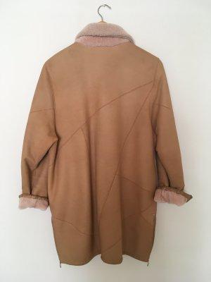 Vintage Futrzana kurtka Wielokolorowy