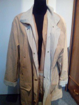 Jacke/Mantel - mit Reißverschluss + Knöpfen - hellbraun/ocker - Barisal - Gr 48