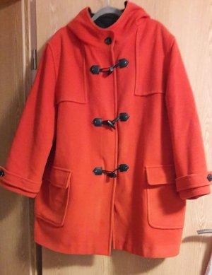 Wełniany sweter pomarańczowy neonowy-ciemny pomarańcz Wełna