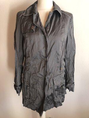 Jacke Mantel Übergangsjacke lang grau