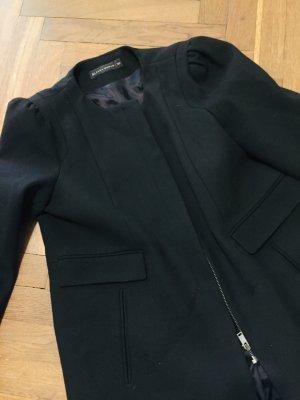 Jacke Mantel Wolle Schwarz Gr. L Mango Zara Cos Übergangsmantel