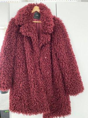 Zara Fur Jacket bordeaux