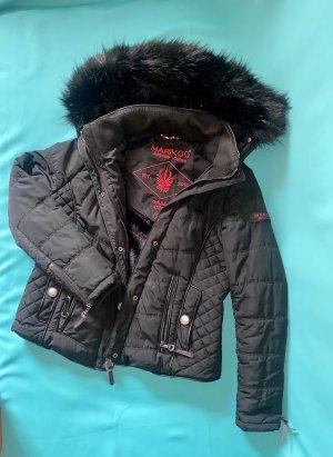 Marikoo Futrzana kurtka czarny
