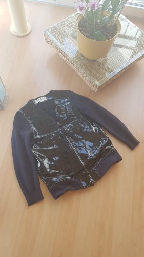 Marni at H&M Faux Leather Jacket blue-dark blue