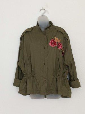 Jacke Military bestickt Gr. XL Khaki