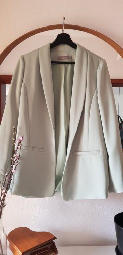 Hallhuber Blazer long gris vert-vert menthe